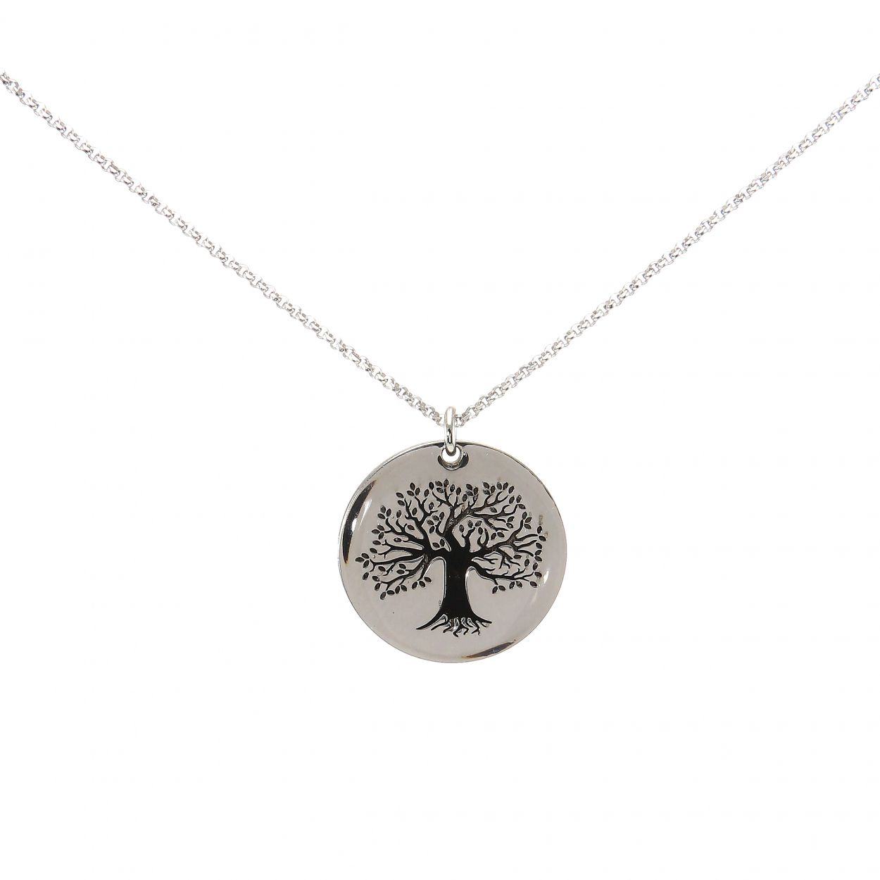 6b7d5f6d54c Collier argent rhodié arbre de vie Ref. 46705