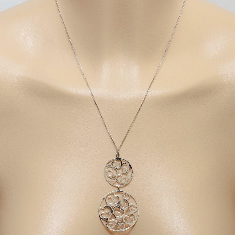 collier argent 2 cercles
