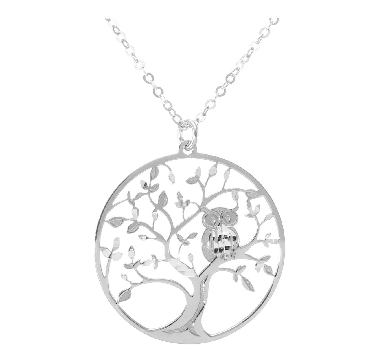 collier arbre de vie argent