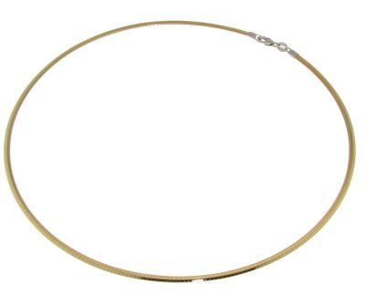 Collier Cable 2 Ors 750 reversible maille oméga 2.7mm - 42cm Ref. 28744 6b7caef07a31