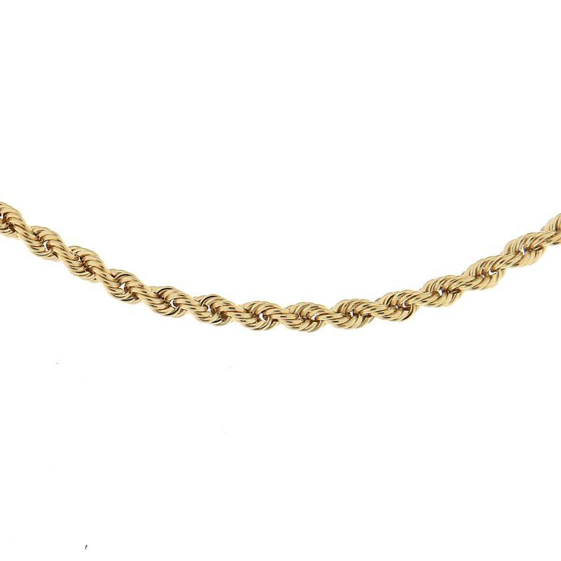 collier femme or jaune 750