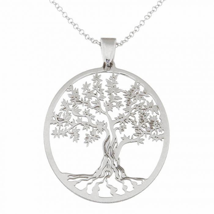 collier motif arbre de vie argent 925 rhodi ref 40588. Black Bedroom Furniture Sets. Home Design Ideas