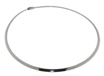 Collier Or 750 oméga reversible Or Blanc   Or Jaune 4mm - 42cm Ref ... 860369c32f12