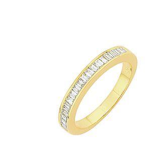 demi alliance diamant baguette carat ref 24945. Black Bedroom Furniture Sets. Home Design Ideas