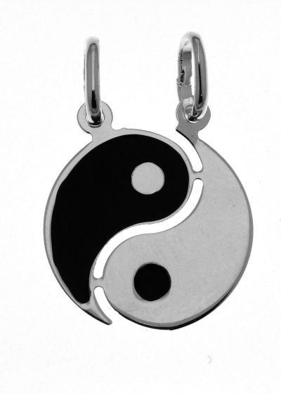 Pendentif yin yang saphir