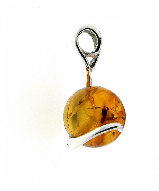 0cffacacda7 Pendentif boule d ambre sur Argent 925 Ref. 42414