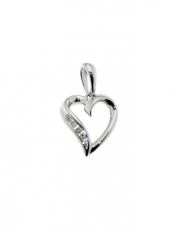 collier or blanc coeur
