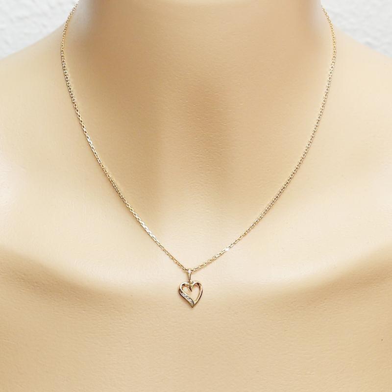 881f48419b1 Pendentif Coeur Or Jaune Diamant 0.026 carat Ref. 28727