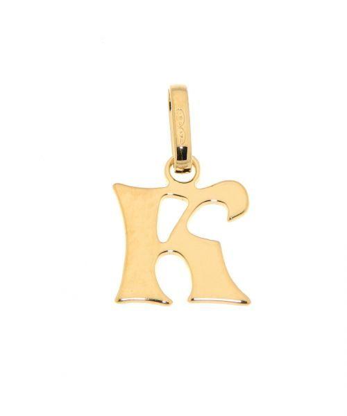 Pendentif Lettre K / Initiale K en Or Jaune 375 Ref. 34221 | Bijouterie  Trabbia Vuillermoz