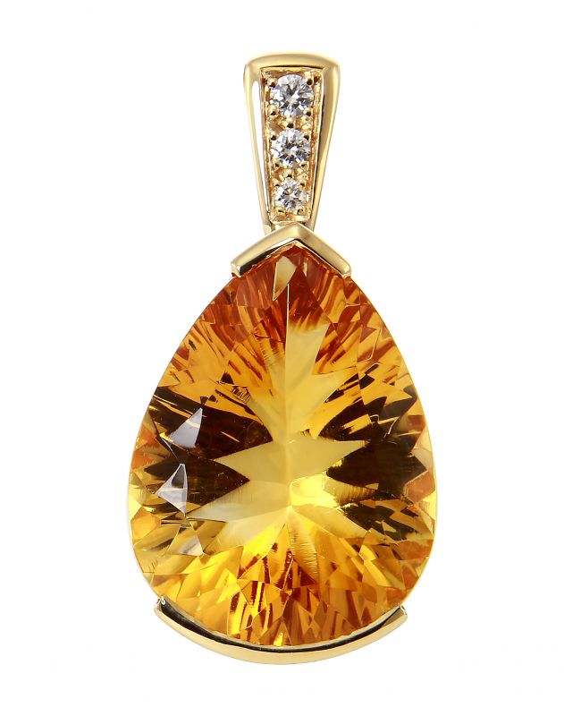 collier homme citrine