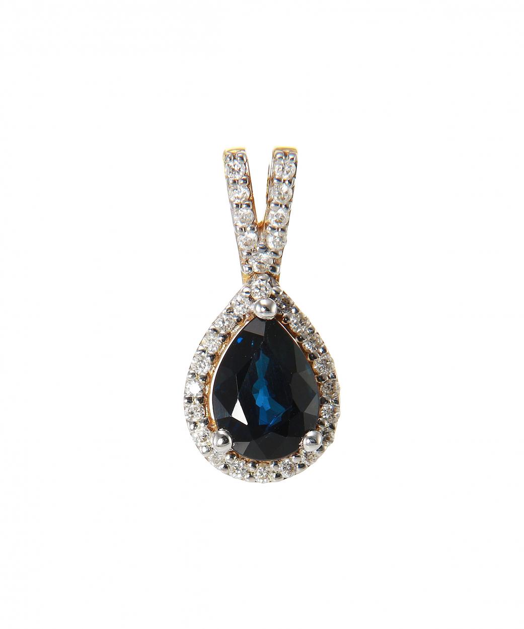 pendentif or jaune saphir et diamant bijoux co teux. Black Bedroom Furniture Sets. Home Design Ideas