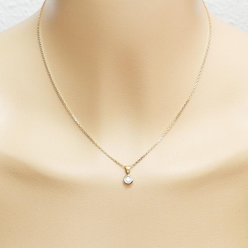 Diamant Rond Pendentif 4mm Trabbia Vuillermoz Jaune Ref38423Bijouterie Or k8O0Pnw