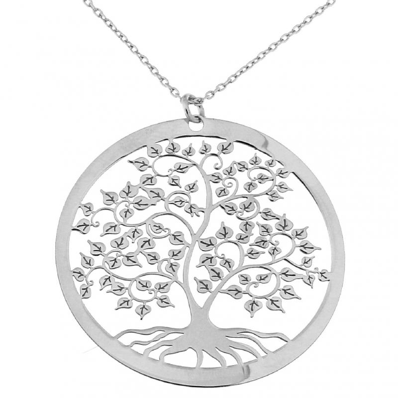 Populaire Sautoir argent et pendentif arbre de vie Ref. 42996 ND51