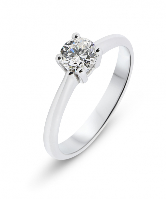 3346238284a Solitaire Diamant Or Blanc Ref. 34569