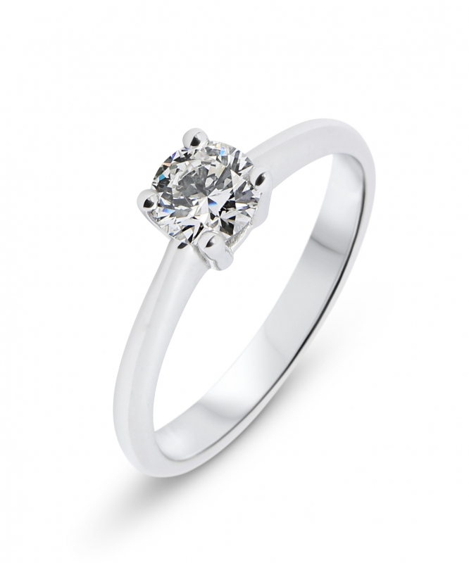a54f0e9d173 Solitaire Or Blanc Diamant 0.50 carat H i1 Ref. 35712