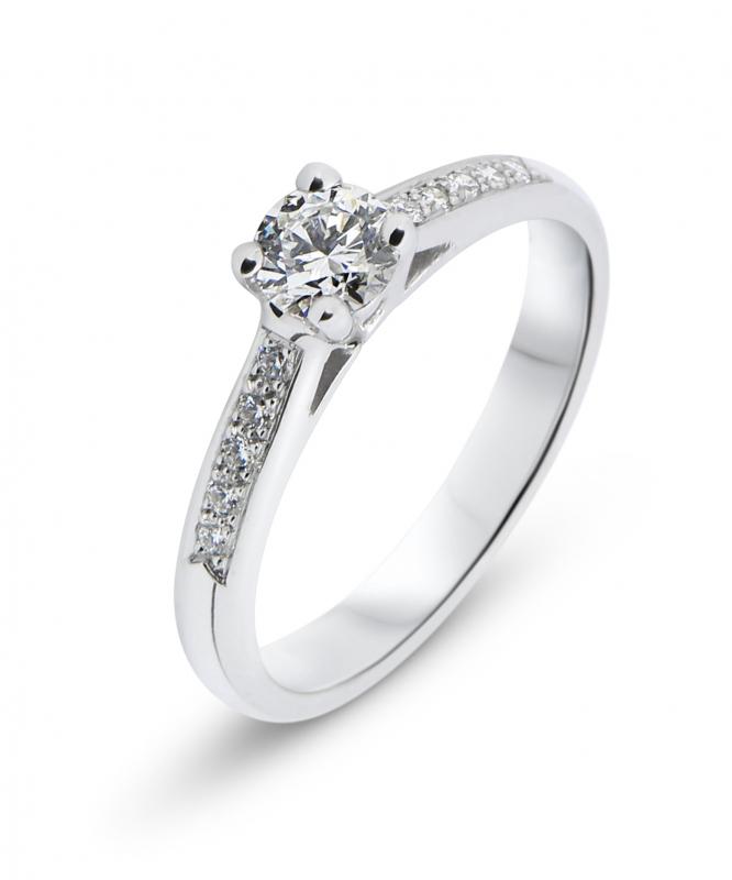 ea727df75a17f Solitaire Or Blanc Diamant Ref. 33104